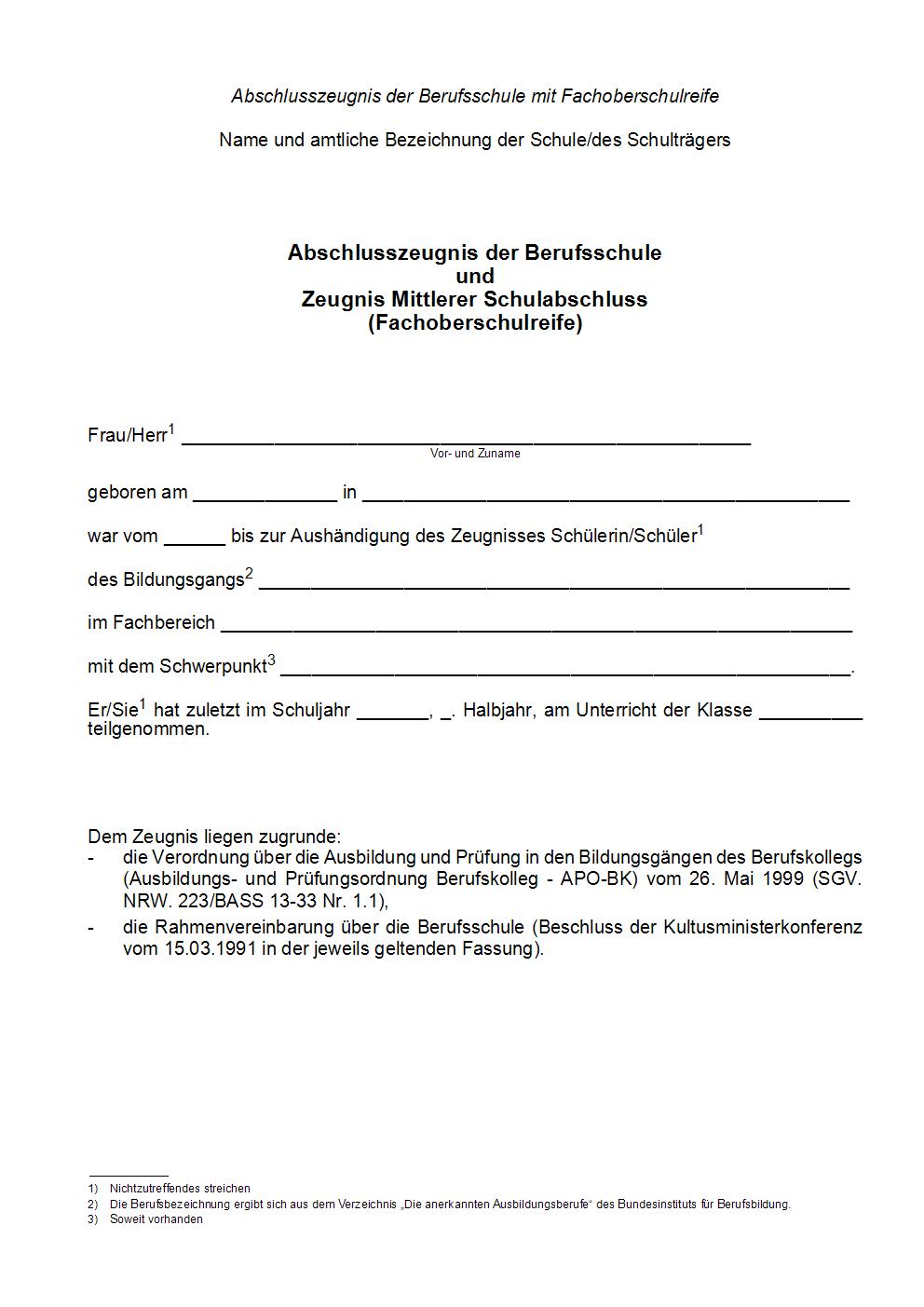 Bass 2020 2021 13 33 Nr 1 2 Verwaltungsvorschriften Zur Verordnung Uber Die Ausbildung Und Prufung In Den Bildungsgangen Des Berufskollegs Vvzapo Bk